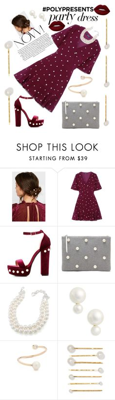 """""""#PolyPresents: Party Dresses"""" by mdfletch ❤ liked on Polyvore featuring Jennifer Behr, Madewell, Charlotte Russe, Carolee, Kate Spade, Lime Crime, contestentry and polyPresents"""