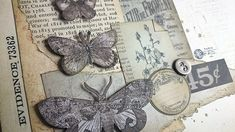Vintage Butterflies Collage