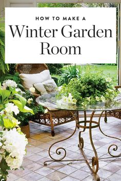 """Winter garden rooms"" are the new ""she sheds,"" and they're surprisingly easy to make yourself. — via @PureWow"