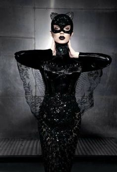 See cat costumes in a new light this Halloween. Think sophisticated and sultry… Cat Costumes, Halloween Costumes, Halloween Ball, Costume Ideas, Catwoman Cosplay, Masquerade Ball, Catsuit, Belle Photo, Sexy
