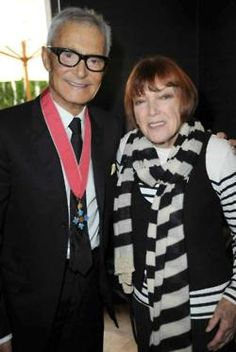 Vidal Sassoon with Mary Quant at a celebration lunch for his CBE investiture in 2009