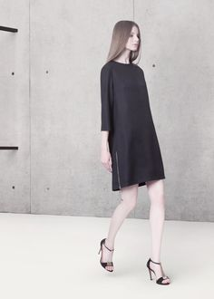 Cocoon Spring - Summer 2014 / Non collection / Black dress with zippers.