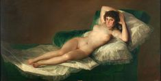 The Naked Maja - The Collection - Museo Nacional del Prado Francisco Goya, La maja desnuda, oil on canvas, (circa Francisco Goya, Oil Canvas, Canvas Art, Goya Paintings, Romanticism Paintings, Wall Art Pictures, Famous Artists, Erotic Art, Art History