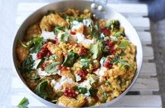 This amazing prawn and lentil curry is perfect for those of you trying to eat more consciously but don't have a lot of time on your hands. This low calorie, but equally yummy dish only takes 35 minutes to cook so is perfect for a week night when you need a bit of comfort food but don't want to go off track. Lentils have virtually no fat but are high in fibre and nutrients so you really can't go wrong.