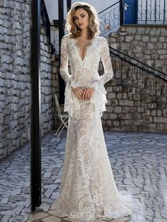 Lace Flared Sleeves