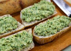 Healthy Chickpea, Spinach, and Avocado Spread