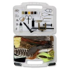Orvis Silver Label Fly Tying Kit is a great way to get started fly tying. Combine with a quality video and viola! Instant hobby.