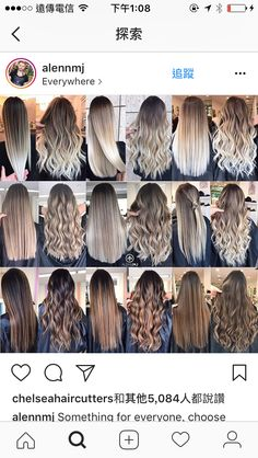Gradient of straight vs curled ombre balayage hair Brown Hair Balayage, Blonde Hair With Highlights, Brown Blonde Hair, Hair Color Balayage, Ombre Hair, Balayage Straight Hair, Blonde Honey, Honey Balayage, Blonde Balayage Highlights