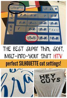 Thin and Soft Heat Transfer Vinyl! The Best Cut Settings for Ultralite HTV | Silhouette School | Bloglovin'