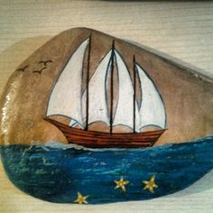 #paintingstone #ship #boat #gift
