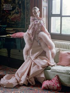 Kate Moss by Tim Walker - Christian Dior Haute Couture by John Galliano fw 2007