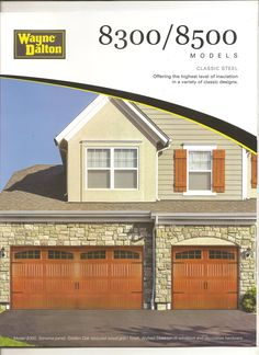 If you are looking to get new wood garage door but concern about its seasonal maintenance, Long Island Garage Door Center offers the new classic steel garage door from Wayne Dalton and Hormann. Garage door model 8300 or 8500 fully insulated of 3 layer construction.