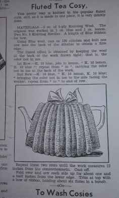 Craft a cure for cancer free tea cosy pattern: Vintage tea cosy patterns