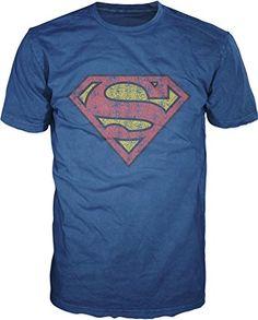 Bioworld Superman Logo Mens Navy T-sh…