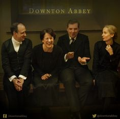 Mr. Mosley, Mrs.Baxter, Mr. Bates and Mrs. Bates. Downton Abbey.