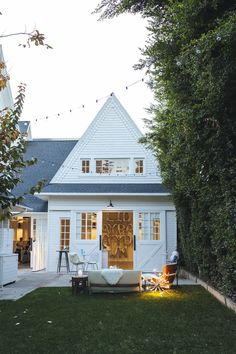 #white #farmhouse exterior | outdoor space