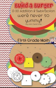 Building addition and subtraction sentences were never as much fun as building burgers, so why not do both?! Students love building their very own math sentences. Who knew tomatoes and lettuce could be so much fun!? A printable is included with the pattern for them to write their new math problems on. $ #bts #commoncore #addition #subtraction #centers #education #teaching