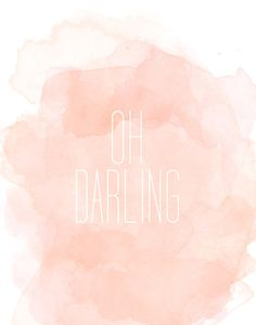 Oh darling Art Print
