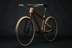 One Custom Bicycle by Grainworks bicycle AnalogOne.One Custom Bicycle by Grainworks Wooden Bicycle, Wood Bike, Bmx Bicycle, Velo Design, Bicycle Design, Grid Design, Velo Vintage, Vintage Bicycles, Enduro