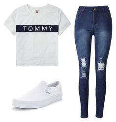 """Untitled #16"" by torimiller-ii on Polyvore featuring Tommy Hilfiger and Vans"