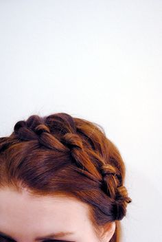 knotted milkmaid braid. love it