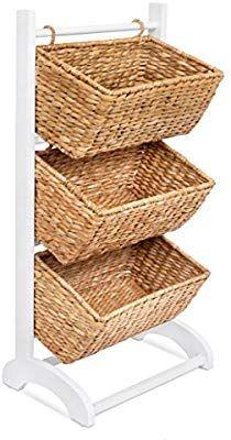 Amazon Com Birdrock Home 3 Tier Abaca Storage Cubby Natural 3