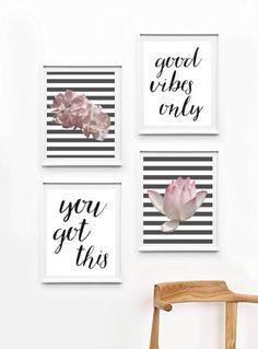Wall Art Sets, Diy Wall Art, Nursery Wall Art, Wall Decor, Motivational Wall Art, Inspirational Wall Art, Wall Art Quotes, Old Room, Girly