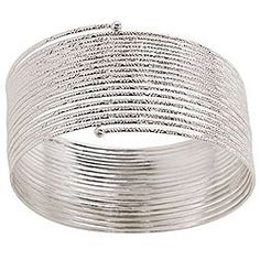 Silvertone Slinky Bracelet