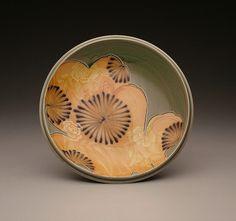 Jen Allen Green Platter 2006, salt fired white stoneware, decals, 11.5 diameter.jpg | Flickr - Photo Sharing!