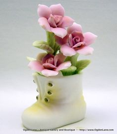 Norleans Occupied Japan Ceramic Baby Boot with by TheAthenaeum, $19.99
