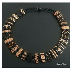 "Peyote strips on 2-hole ""carrier beads"""