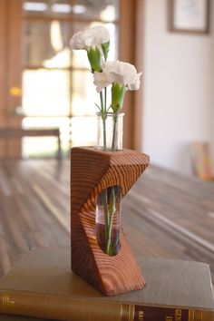 Rustic laboratory bud vase test tube bud vase by BourbonMoth