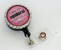 Epidural NURSE Retractable ID Badge Holder - Nursing Student, RN, Gifts for Nurses, Nurses Lanyard, Thank You Gift on Etsy, $10.95