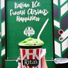Rita's Italian Ice make other frozen treats green with envy! Made fresh, in-store, every day - the intense flavors and variety can't be beat! #RitasStorePic from Rita's Ice Truck