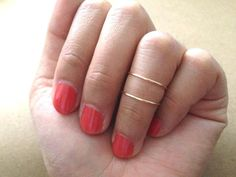 set of 2 Gold or Silver Knuckle Ring Silver Knuckle by littlethingsplanet, $6.50