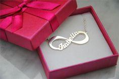 personalized infinity necklace #personalized #jewellry #jewellery