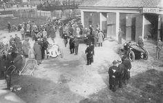 GP of Italy 1924 (Monza) , Alfa romeo P2 #1 ,  Antonio Ascari (first) , #5 Giuseppe Campari (third) , #9 Louis Wagner (second) and Alfred Neubauer #6 Mercedes.