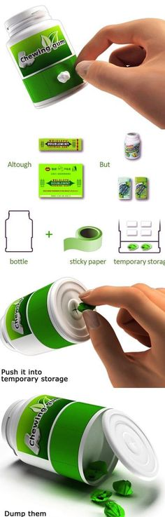Chewing Gum Packaging. Go green, save the environement.