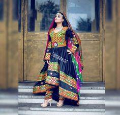 #afghani #dress #black