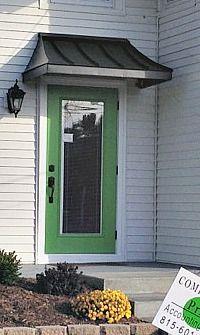 The Black Metal Juliet Door Awning In Chicago Il Door Awnings