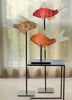 Prosperity Koi Lamp by Lara Fisher (Mixed-Media Lamp) | Artful Home