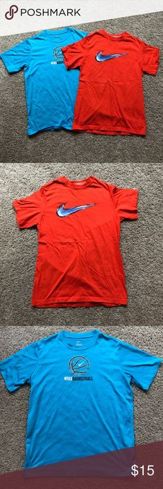 Lot of 2 Nike Tees Youth Large Dri-Fit Size - Youth Large  Brand - Nike Condition - gently used - Wash wear (Orange) , Minor pilling (Blue)  Bundle to save! Next day shipping ✈️ Nike Shirts & Tops Tees - Short Sleeve