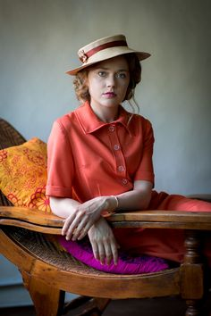 Jemima West as Alice Whelan in 'Indian Summers, Season One. With an infant son in tow, but husband absent, Alice finds a social sanctuary with her powerful brother Ralph in India.