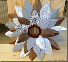 Chocolate and SIlver Paper Wreath