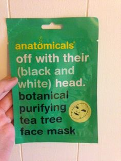 Off With Their (Black and White) Head. Botanical Purifying Tea Tree Face Mask | Anatomicals