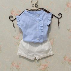 2017 Summer Baby Teenage Child Girls Blouse Striped Cotton Sleeveless Tank Schoo… 2017 Summer Baby Teenage Child Girls Blouse Striped Cotton Sleeveless Tank School Girl Tops And Blouses Shirts For Kids Kids Outfits Girls, Little Girl Dresses, Shirts For Girls, Baby Outfits, Nice Dresses, Kids Girls, Baby Dress Design, Baby Girl Dress Patterns, Little Girl Fashion