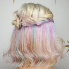 We've gathered our favorite ideas for 25 Best Ideas About Rainbow Dyed Hair On P. We've gathered o Rainbow Dyed Hair, Hidden Rainbow Hair, Dyed Hair Ombre, Dyed Hair Purple, Dyed Hair Pastel, Hidden Hair Color, Short Dyed Hair, Multicolored Hair, Colorful Hair