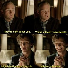 High functioning sociopath, with your number :D #Sherlock # ...