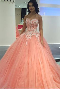 Prom Dress Princess, Peach Lace Appliques Ball Gowns Prom Dresses,Pleated Tulle Engagement Prom Dresses,Prom Dresses Shop ball gown prom dresses and gowns and become a princess on prom night. prom ball gowns in every size, from juniors to plus size. Elegant Bridesmaid Dresses, Pretty Prom Dresses, Sweet 16 Dresses, Simple Dresses, Beautiful Dresses, Pink Dresses, Sweet Sixteen Dresses, Dresses Dresses, Fashion Dresses