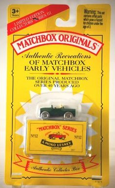 1993 - Tyco / Matchbox Originals - Authentic Recreations of Matchbox Early Vehicles - Land Rover / No. 12 - Green - Collector Series III - w/ Box - MOC - 1:64 Scale Die Cast - Out of Production - Limited Edition - Collectible by Tyco Toys Inc. $14.99. 1993 - Tyco Toys Inc - Matchbox Originals - Collectors Series III. Authentic Recreations of Matchbox Early Vehicles - No. 12 - Land Rover - Green. 1:64 Scale Die Cast - Authentic Collector Box - MOC. New - Mint - Rare - ...